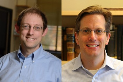 A headshot of Joel Bader and Andrew Ewald are shown side-by-side.
