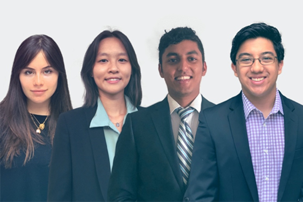 The students of team Benegraft are shown in front of a white background.